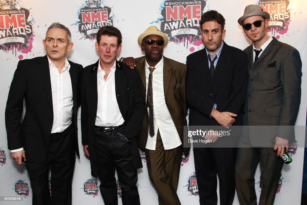 Terry Hall, Neville Staple, Roddy Byers, John Bradbury and Lynval Golding of The Specials arrive at the Shockwaves NME Awards 2010 held at Brixton Academy on February 24, 2010 in London, England.