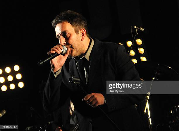 Terry Hall of British 2tone ska group The Specials performs during a 30th Anniversary reunion concert at Brixton Academy on May 7 2009 in London...