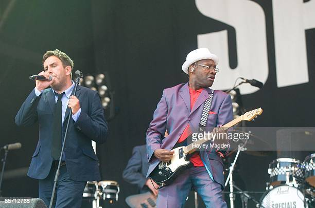 Terry Hall of The Specials perform on The Main stage on day 2 of Glastonbury Festival at Worthy Farm on June 26 2009 in Glastonbury England
