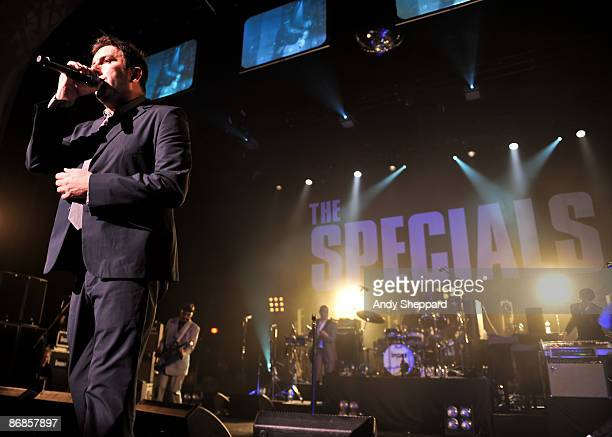 Terry Hall of The Specials performs at Brixton Academy on May 8 2009 in London England