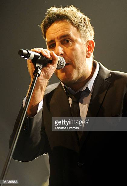 Terry Hall of The Specials performs on stage at Brighton Centre on November 19 2009 in Brighton England