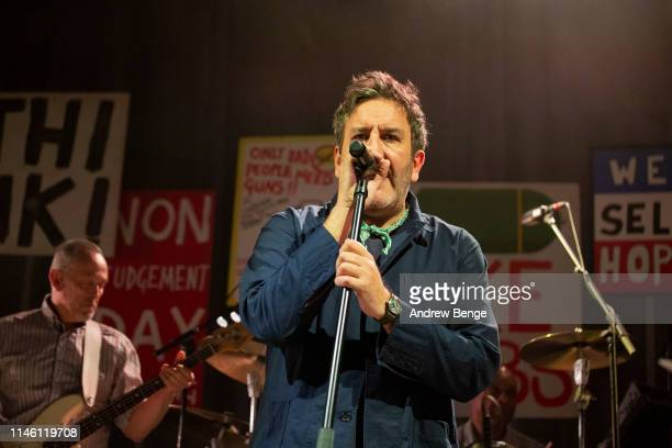 Terry Hall of The Specials performs on stage at O2 Academy Leeds on April 30 2019 in Leeds England