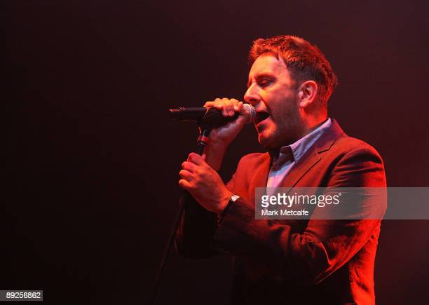 Terry Hall of The Specials performs on stage during the Splendour in the Grass festival at Belongil Fields on July 25 2009 in Byron Bay Australia