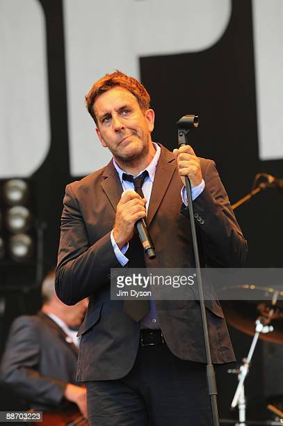 Terry Hall of The Specials performs on the Pyramid Stage during day two of the Glastonbury Festival at Worthy Farm in Pilton on June 26 2009 in...
