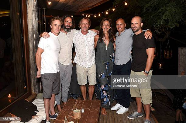 Terry Hardy John Morre Jeff Bizzack Julie Gilhart Kelly Slater and Todd Hymel attend Kelly Slater John Moore and Friends Celebrate the Launch of...