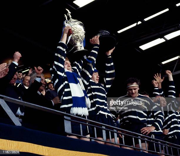 Terry Hudson of Featherstone Rovers with the Challenge Cup after their victory over Hull in the Rugby League Challenge Cup Final at Wembely Stadium...