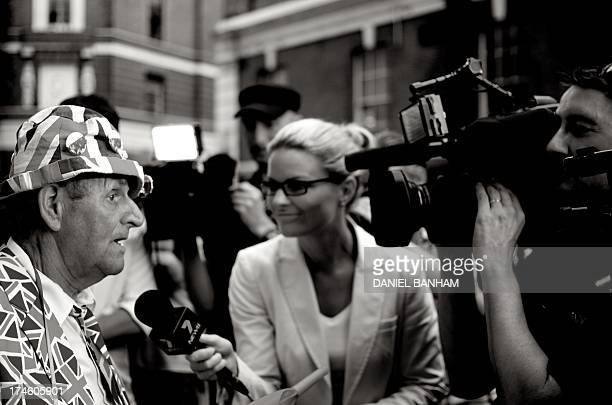 Terry Hutt from Cambridge, being interviewd outside the Lindo Wing of St Mary's Hospital in Paddington, west London, after the birth of the Duchess...