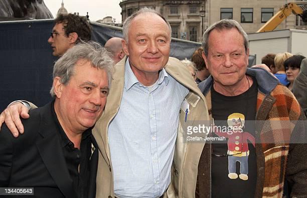 Terry Jones Ken Livingstone London Mayor and Terry Gilliam