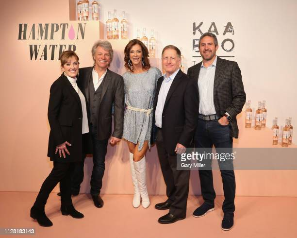 Terry Kennedy Jon Bon Jovi Charlotte Jones Anderson Dean Kennedy and Seth Wolkov attend the KAABOO Texas Welcomes Hampton Water Tasting at The Joule...
