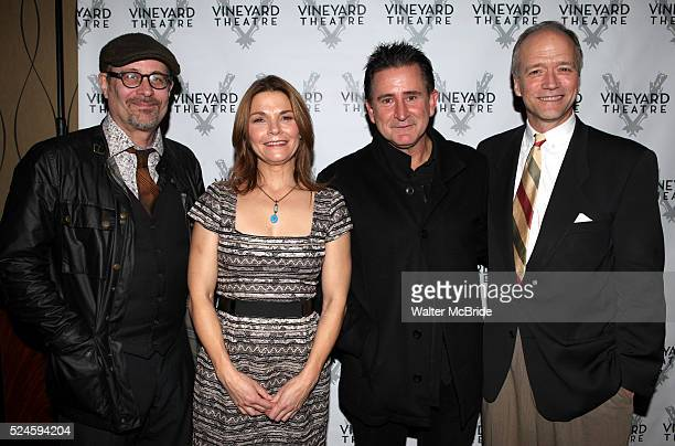 Terry Kinney Kathryn Erbe Anthony LaPaglia Douglas McGrath attending the Opening Celebration for 'Checkers' at the Vineyard Theatre in New York City...
