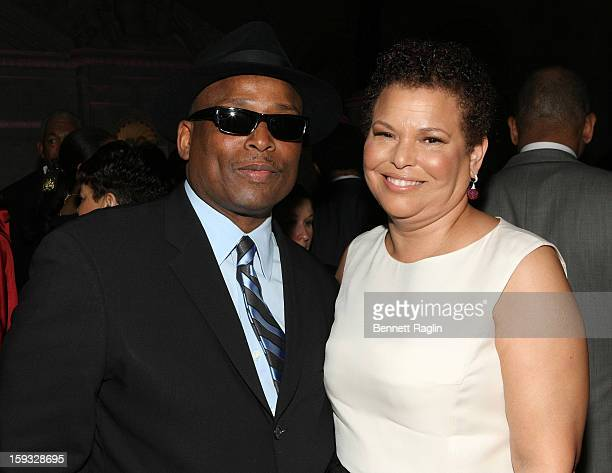 Terry Lewis and Debra Lee attend BET Honors 2013 Debra Lee PreDinner at The Library of Congress on January 11 2013 in Washington DC
