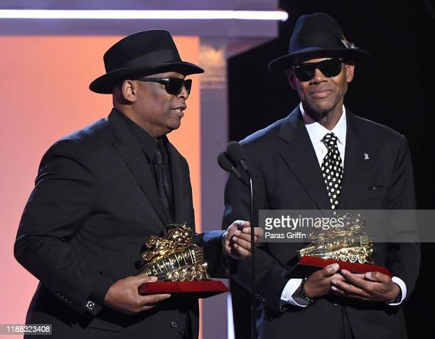 Terry Lewis and Jimmy Jam accept the Legend Award onstage at the 2019 Soul Train Awards presented by BET at the Orleans Arena on November 17 2019 in...