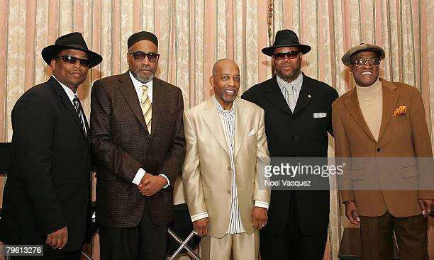 Terry Lewis Kenneth Gamble Leon Huff Jimmy Jam and Billy Paul attend the Gamble Huff PreGRAMMY Party at the Four Seasons Hotel on February 6 2008 in...