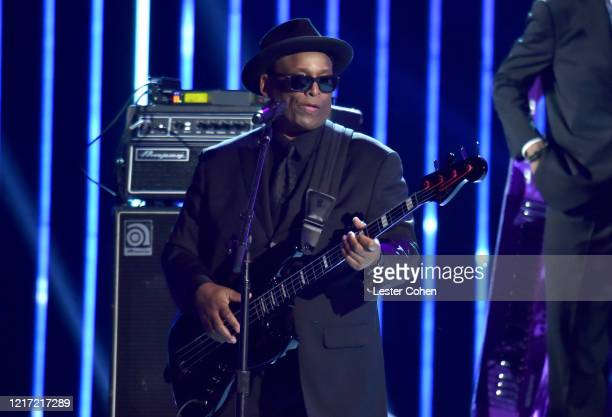 Terry Lewis performs onstage during the 62nd Annual GRAMMY Awards Let's Go Crazy The GRAMMY Salute To Prince on January 28 2020 in Los Angeles...