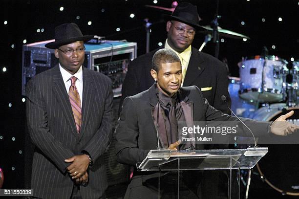 Terry Lewis Usher and Jimmy Jam during 2005 Atlanta Heroes Awards at Westin Peachtree Plaza Hotel in Atlanta Georgia United States