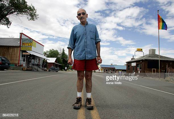 Terry Marasco who is one of 25 people who live in Baker at the base of Great Basin National Park stands in the middle of Main Street He is the owner...