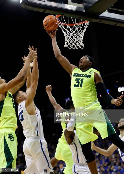 Terry Maston of the Baylor Bears shoots during the National Collegiate Basketball Hall Of Fame Classic Championship game against the Creighton...