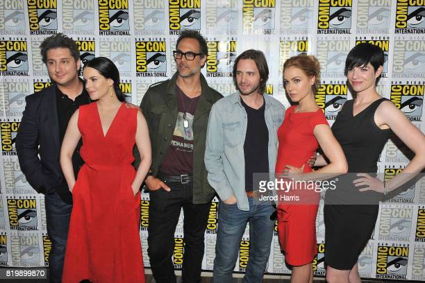 Terry Matalas Emily Hampshire Todd Stashwick Aaron Stanford Amanda Schull and Alisen Down attend ComicCon International 2017 Day 1 on July 20 2017 in...