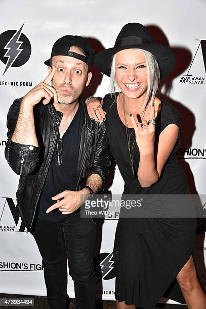 Terry Matlin and Katarina Benzova attend Animals Asia Let A Bear Shit In The Woods Campaign at the Electric Room at Dream Downtown on May 18 2015 in...