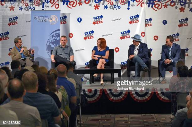 Terry McCarthy, Dr. Vince Houghton, Jen Psaki, Robert Davi, and Adam Housley at the 'LA World Affairs Council Presents: World War 3' panel during...