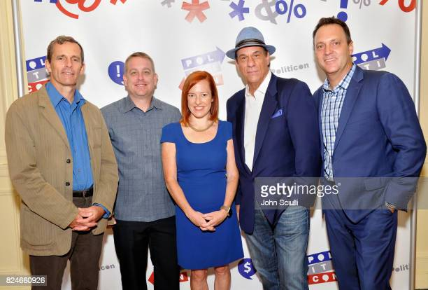 Terry McCarthy, Dr. Vince Houghton, Jen Psaki, Robert Davi, and Adam Housley at Politicon at Pasadena Convention Center on July 30, 2017 in Pasadena,...