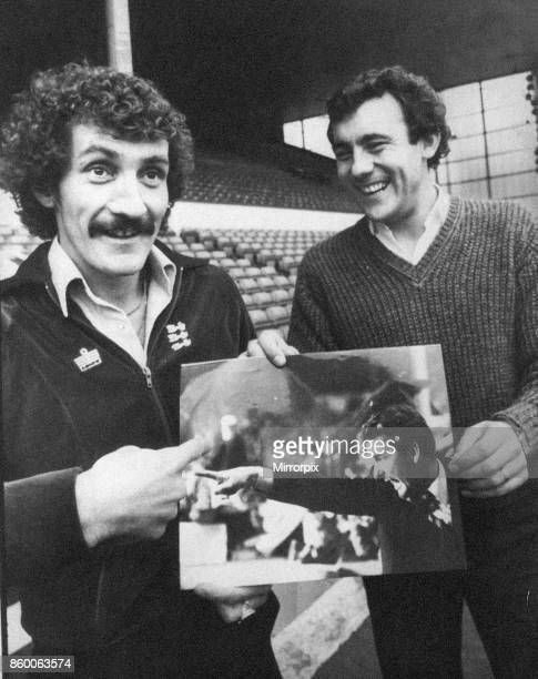 Terry McDermott and Ray Kennedy Liverpool midfielders will be facing Brian Clough's Nottingham Forest in the FA Cup this Saturday pictured at Anfield...