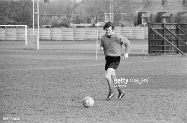 Terry McDermott new Liverpool signing reports for training at Melwood 14th November 1974
