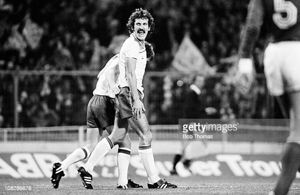 Terry McDermott of England during the World Cup Qualifying match between England and Switzerland at Wembley Stadium 19th November 1980 England won 20