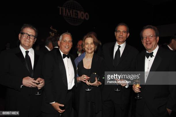 Terry McDonald, Walter Isaacson, Ann Moore, Richard Stengel and Johh Huey attend TIME MAGAZINE'S 100 MOST INFLUENTIAL PEOPLE 2009 at Jazz At Lincoln...
