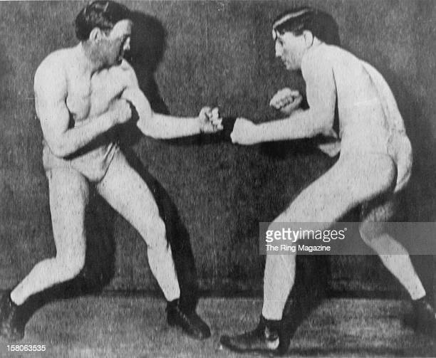 Terry McGovern poses against Eddie Hanlon