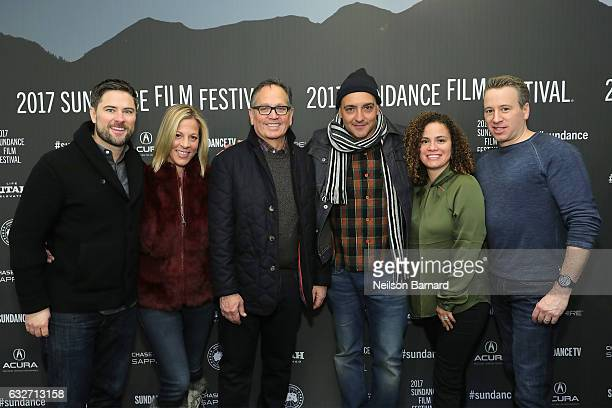 Terry Minogue Sharon Levy Kevin Kay Chachi Senior Anhelo Reyes and Frank Tanki attend the TIME The Kalief Browder Story Sundance World Premiere at...