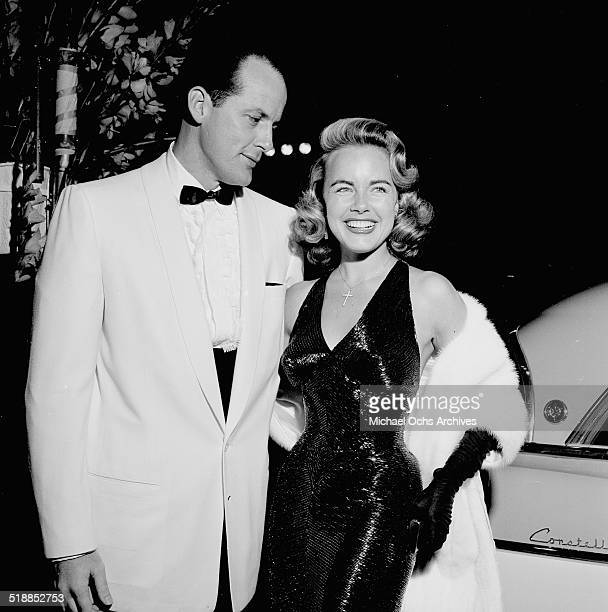 Terry Moore and Eugene McGarth attend the movie premiere for King and I in Los AngelesCA