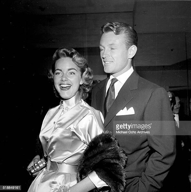 Terry Moore and Jacques Sernas arrive at Ciro's in Los AngelesCA
