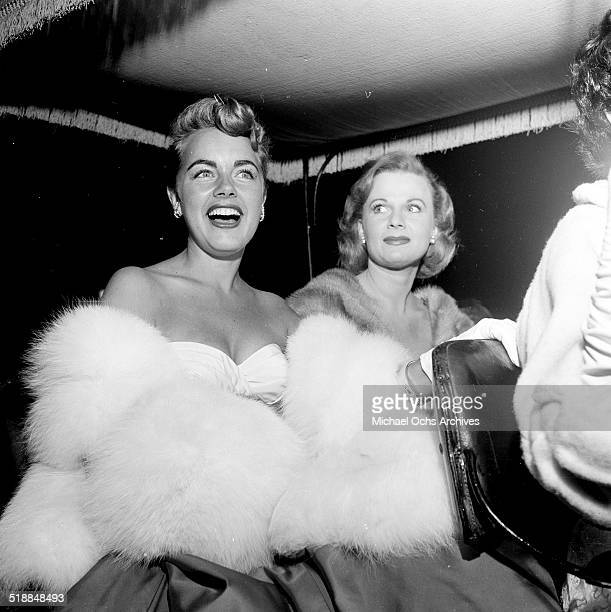 Terry Moore attends a movie premiere party for Red Garters at Mocambo in Los AngelesCA