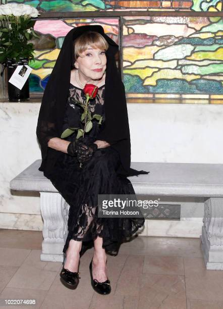 Terry Moore attends the 91st annual Memorial Service for Rudolph Valentino at Hollywood Forever on August 23 2018 in Hollywood California