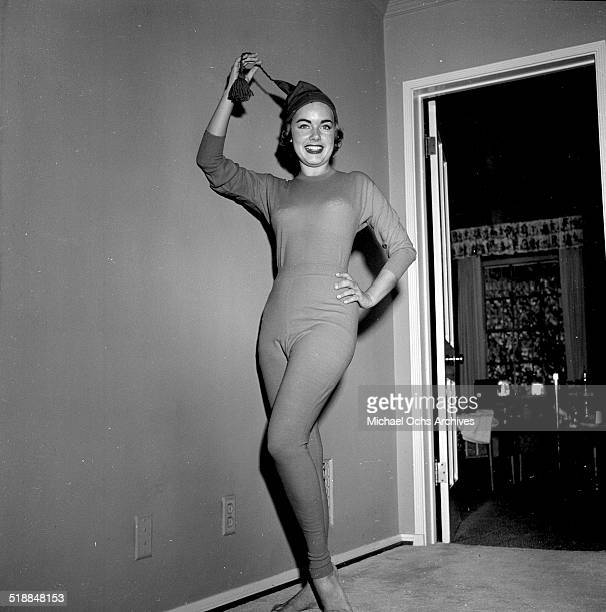 Terry Moore poses for portrait at home in Los AngelesCA
