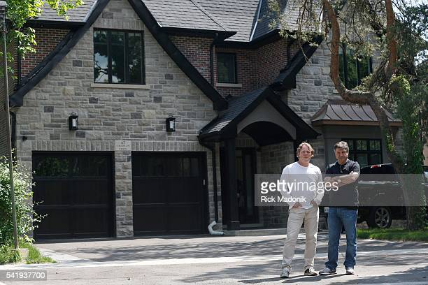 Terry Moshenberg David Silverberg are the creators of online reports Hometrics They're are standing in front of a recently constructed house The...