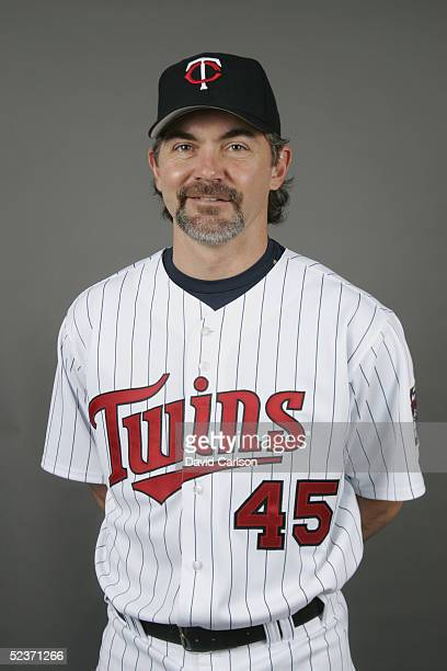 Terry Mulholland of the Minnesota Twins poses for a portrait during photo day at Hammond Stadium on February 28 2005 in Ft Myers Florida