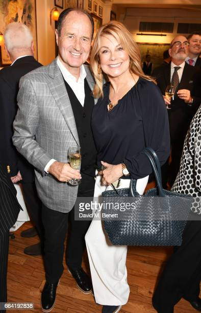 Terry Neill and Jilly Johnson attend a party celebrating 40 years of Langan's Brasserie on April 3 2017 in London England