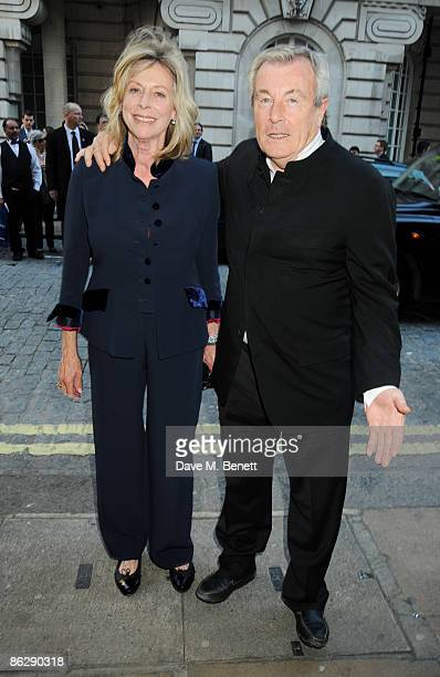 Terry O'Neil and Lorraine Ashton arrive at the London film premiere of 'Is Anybody There' at the Curzon Cinema Mayfair on April 29 2009 in London...