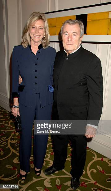 Terry O'Neil and Lorraine Ashton attend the Mayfair Personality Of The Year at the Grosvenor House Hotel on March 12 2008 in London England