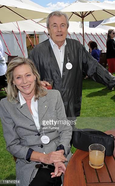 Terry O'Neil and Lorraine Ashton attends the Cartier International Polo Day 2011 at Guards Polo Club in Windsor Great Park on July 24 2011 in Egham...