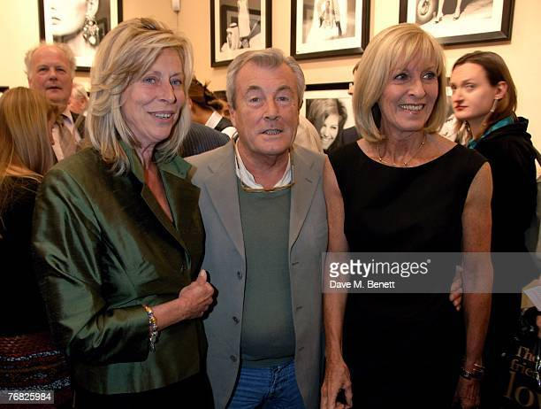 Terry O'Neil and Lorraine Ashton with Diana Donovan attend the private view of 'Terence Donovan Image Maker And Innovator' at the Chris Beetles...