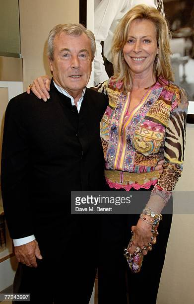 Terry O'Neill and wife Lorraine Ashton attend the private view of Terry O'Neill's latest exhibition 'Sinatra Frank And Friendly' at the Chris Beetles...