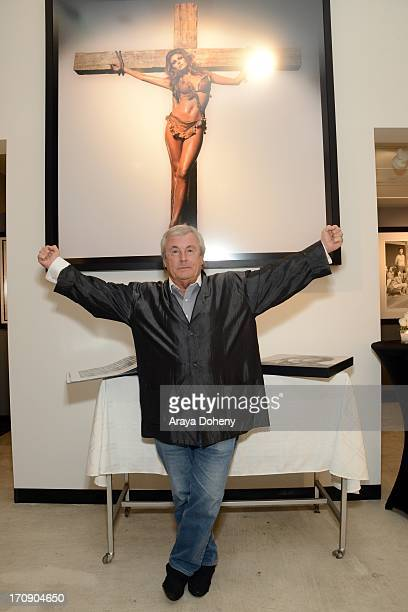 Terry O'Neill attends a gallery exhibit of Terry O'Neill Presents The Opus A 50 Year Retrospective at Mouche Gallery on June 19 2013 in Beverly Hills...