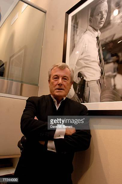 Terry O'Neill attends the private view of Terry O'Neill's latest exhibition 'Sinatra Frank And Friendly' at the Chris Beetles Gallery on October 9...