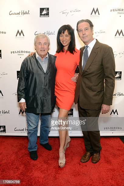 Terry O'Neill Keiko Noah and Robin Morgan attend a gallery exhibit of Terry O'Neill Presents The Opus A 50 Year Retrospective at Mouche Gallery on...
