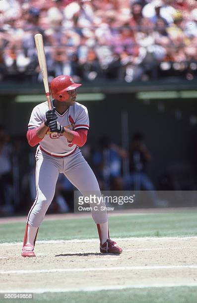SAN DIEGO CA Terry Pendleton of the St Louis Cardinals circa 1986 bats against the San Diego Padres at Jack Murphy Stadium in San Diego California