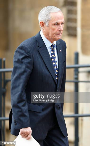 Terry Pendry attends the Easter Matins service at St George's Chapel Windsor Castle on April 5 2015 in Windsor England
