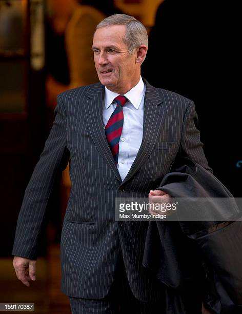 Terry Pendry leaves the Goring Hotel after attending a Christmas Lunch hosted by Queen Elizabeth II for her close members of staff on December 03...